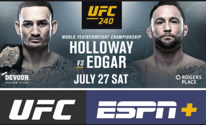 UFC 240 fight