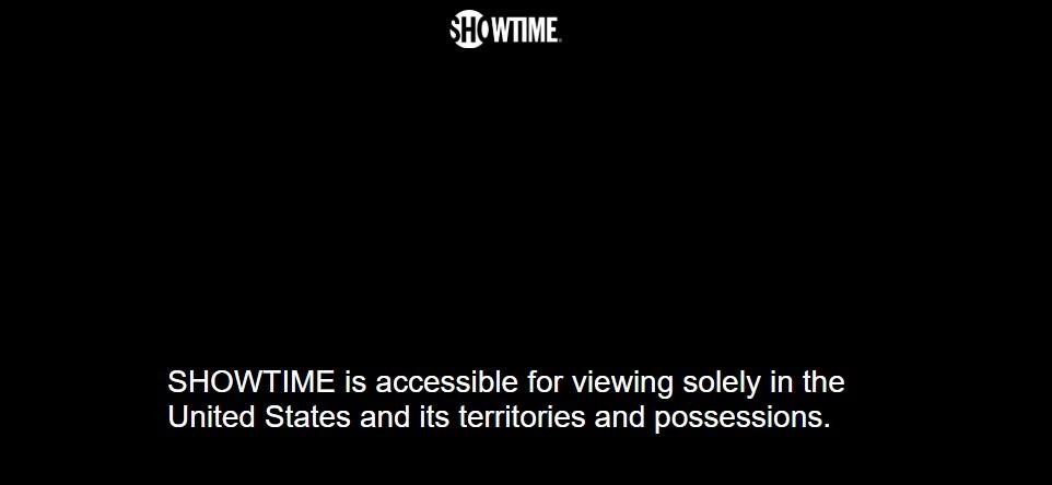 Show Time geo-restriction error