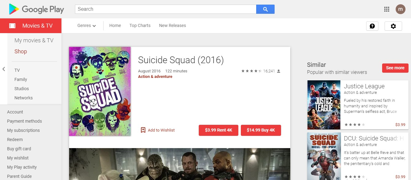 watch suicide squad online - Google Play
