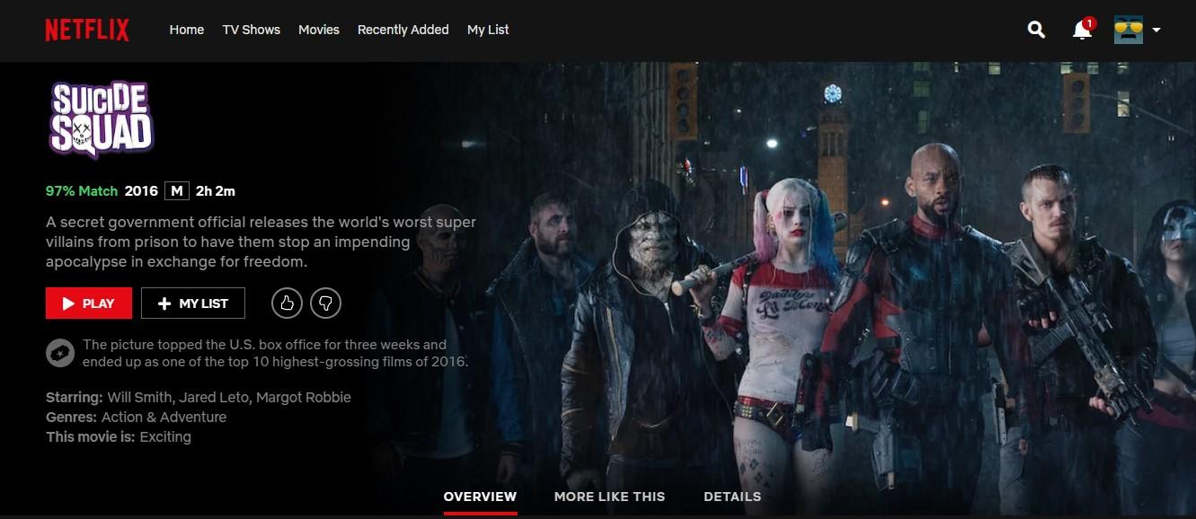 Suicide Squad - Netflix