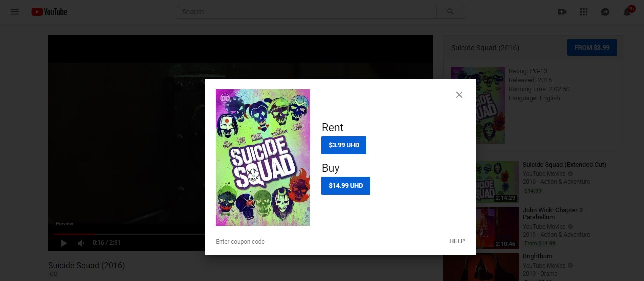 watch suicide squad online - YouTube TV