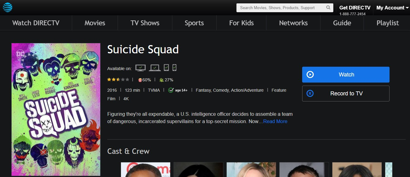 Suicide Squad DirectTV