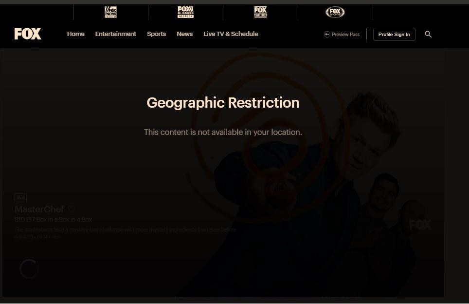 fox tv geo restriction