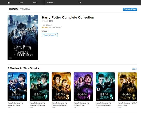 iTunes Harry Potter